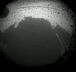 Curiosity's Shadow On The Surface Of Mars.