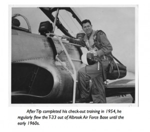 Cloyce Joseph Tippett certifies in the T-bird T-33 Jet Trainer