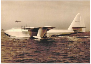 Col C. J. Tippett visited the Spruce Goose