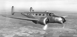 Col. C. J. Tippett and the Beechcraft C45