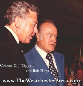 Colonel C. J. Tippett and Bob Hope in the early 1980s.