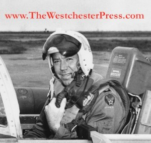 Colonel C. J. Tippett in the cockpit of a Lockheed T-33 in Panama, 1955 - 1960