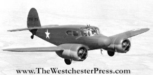 The Cessna T-50 was a twin-engine trainer and Tip flew it from Washington D.C. to Rio de Janeiro, Brazil in 1943. Thank you wikipedia for the public domain photo!