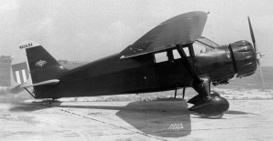 Before he was a Colonel, C. J. Tippett flew the Lycoming Stinson out of Clover Field in California.