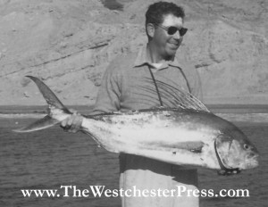 This used to be the world record Roosterfish catch, back in 1954. Col. C. J. Tippett pulled in this 80 lb fish on a 50 lb line at the Cabo Blanco Fishing Club.